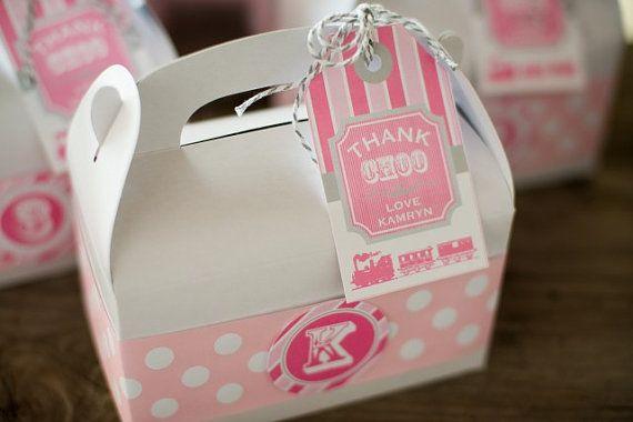 Billete de tren Vintage chica rosa cumpleaños por arpartyprintables