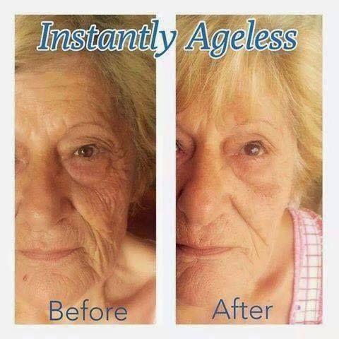 What is Instantly Ageless? Instantly Ageless™ is a powerful anti-wrinkle microcream that works quickly and effectively to diminish the visible signs of aging. The revolutionary ingredient is argireline: a peptide that works like botox—without the needles. Instantly Ageless™ revives the skin and minimizes the appearance of fine lines and pores for a flawless finish. Its simply amazing!!