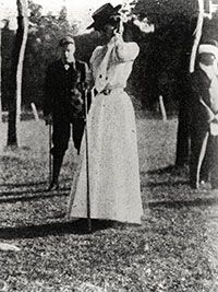 With a nine-hole score of 47, Margaret Abbott became the first American woman, and second overall, to win an Olympic gold medal, winning the 1900 Olympic golf event.  2016 will mark the 2nd time that Women's Golf will be held.