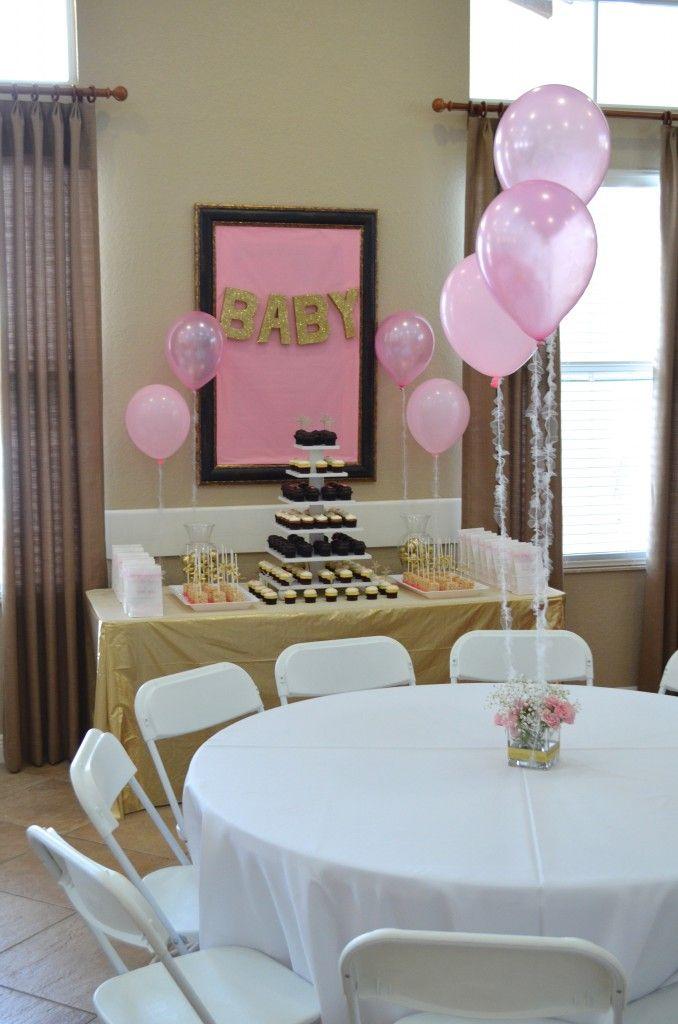 Diy pink gold baby shower decorations baby shower ideas pinterest ballerina baby showers - Decoration baby shower fait maison ...