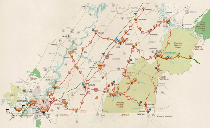Tanasi Trail - Points of Interest | Tennessee Trails and Byways