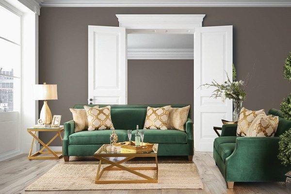 Verdante Transitional Green Microfiber Sofa Green Sofa Living Room Living Room Green Leather Couches Living Room