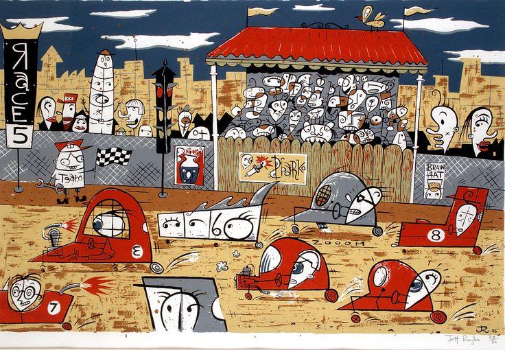 Race No 5 or 7 - Jeff Raglus. Australian art. Pop art. Illustration.