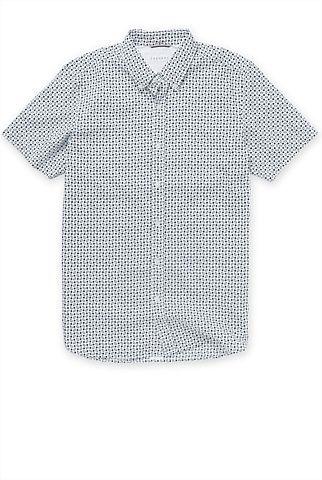 Shortsleeved smart/casual shirt  http://www.trenery.com.au/shop/menswear/clothing/shirts--casual/short-sleeved-box-printed-shirt-60186797  $99 NZD at Trenery