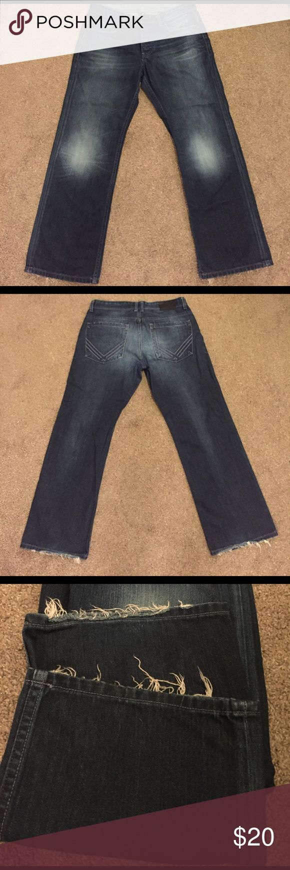Armani Exchange 36x32 boot cut jeans. Little fraying at the leg openings otherwise great condition. A/X Armani Exchange Jeans Bootcut