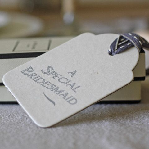 The Wedding of My Dreams - Gift Tag Special Bridesmaid Large #wedding