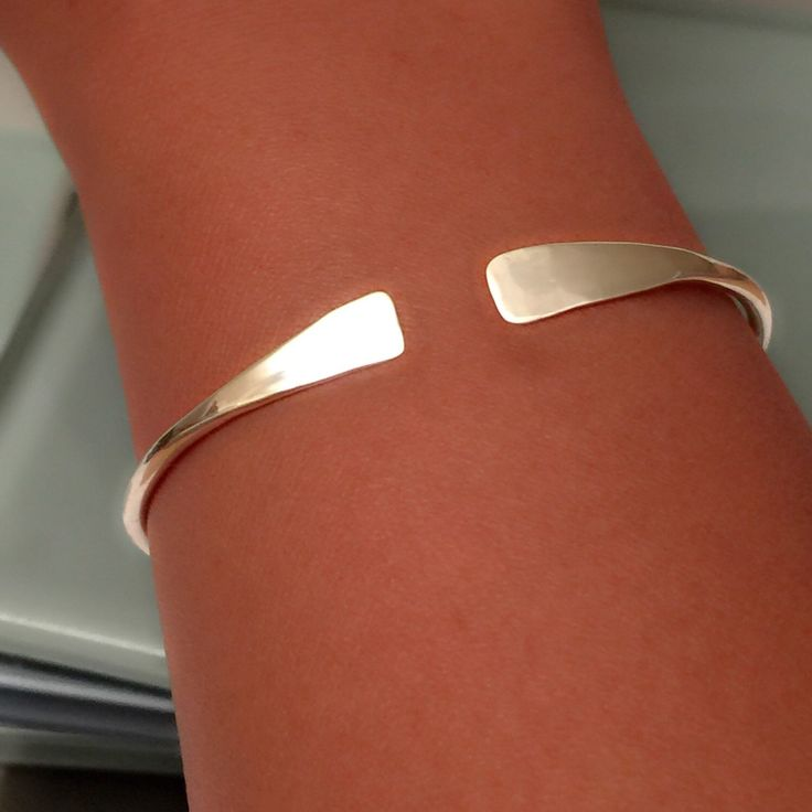 Sterling Silver Bangle by EllynBlueJewelry on Etsy https://www.etsy.com/listing/249687117/sterling-silver-bangle