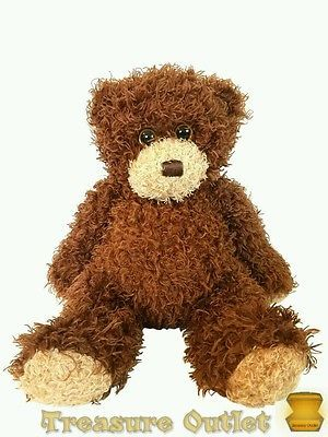 Ty Classic Stuffed Plush Beanie Brown Curly Hair Teddy Bear Shaggy 2010 12in