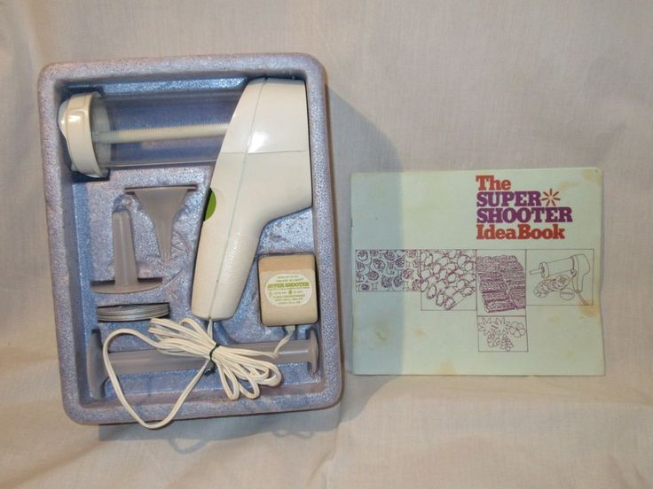 Vtg Werever Super Shooter Electric Cookie Press Canape' Candy Maker It Works #WearEver