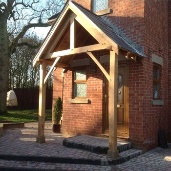 bespoke wooden door canopies