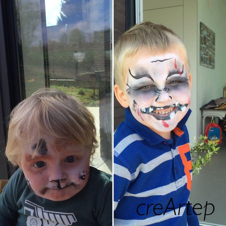 #facepainting #kindergrime #dog/hond #halloween