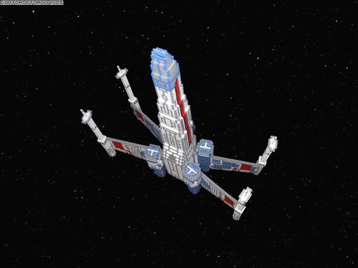 3D X Wing Bead Sprite bottom by DrOctoroc.deviantart.com on @DeviantArt