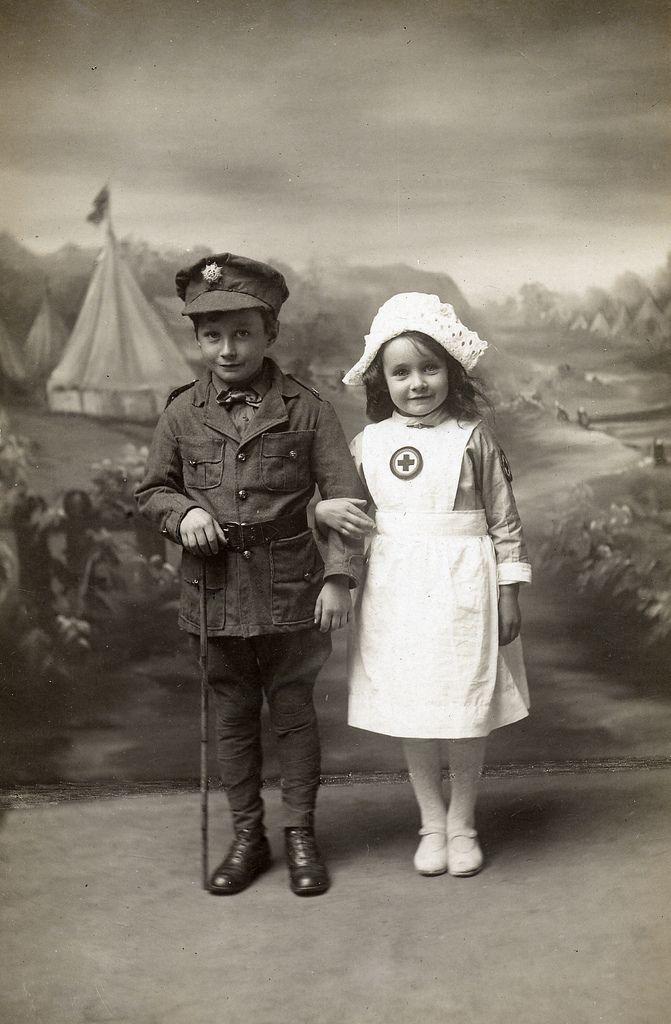 Soldier and nurse. Strange one...
