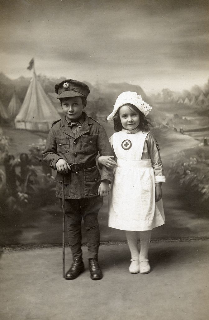 Soldier and nurse.