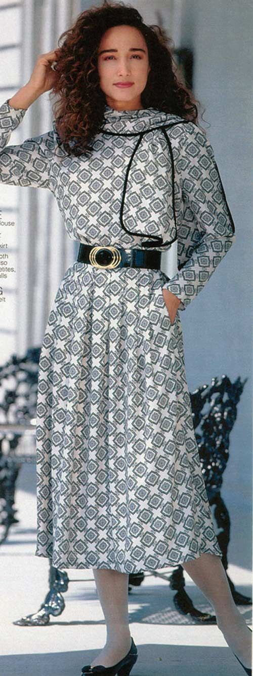 Women's Dress from a 1990 catalog #1990s #fashion #vintage