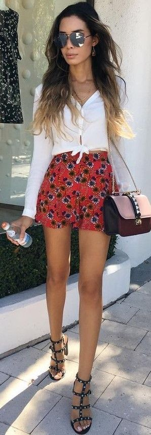 #summer #hot #weather #outfits |  White + Floral