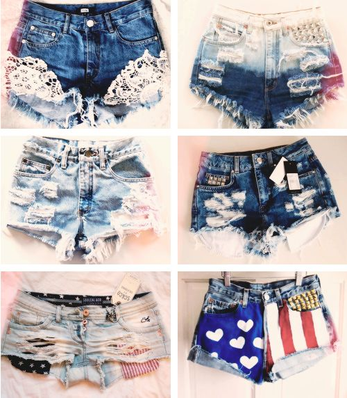 6 shorts distintos de mezclilla