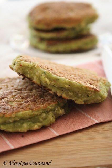 Galettes+pois+cassés,+quinoa,+brocoli+{+sans+gluten,+sans+lait+sans+oeufs+}