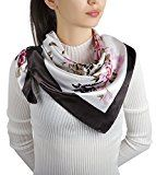 Review for Flowomen Women\'s Silk Scarf colorful Square Large Neckerchief Daily Luxury Fash... - Frankie Linares  - Blog Booster