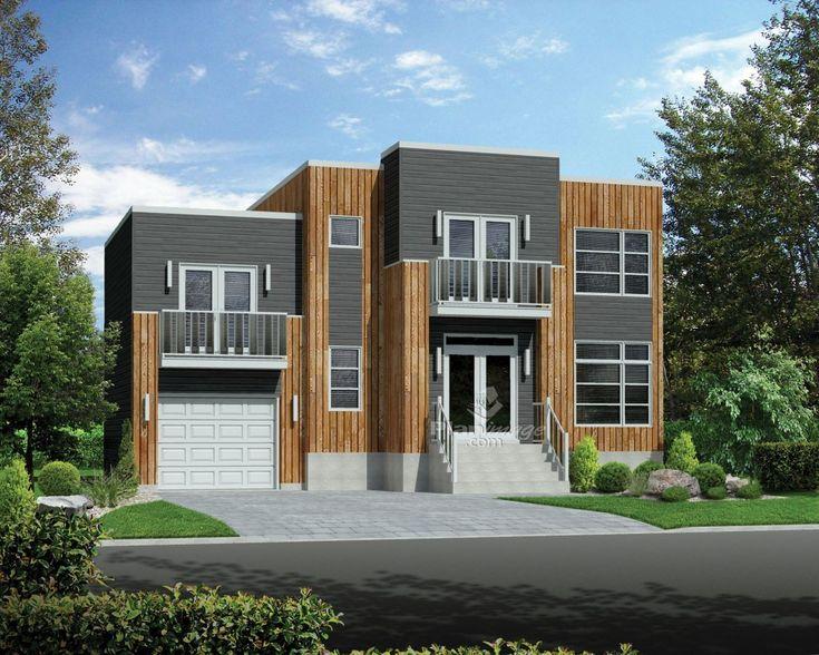 De style contemporain, cette maison à étage à toit plat se distingue
