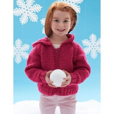 Kid's Jacket in Bernat Softee Chunky   Knitting Patterns   LoveKnitting
