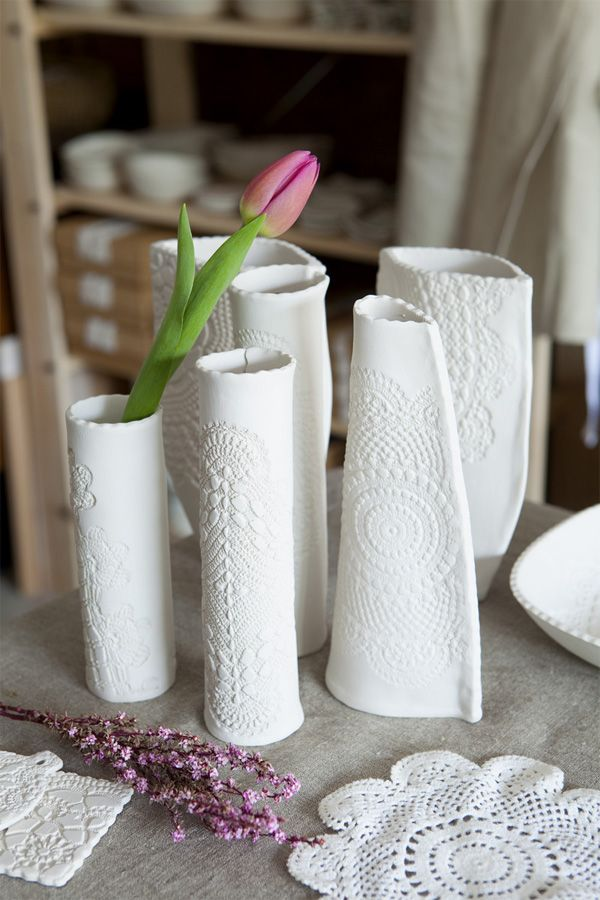 Vases from Doilies.