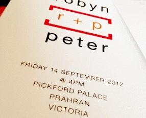 #Wedding_Invitation @Aaron Giles  Robyn & Peter