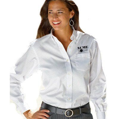 18 best images about oxford shirts custom embroidered for Women s company logo shirts