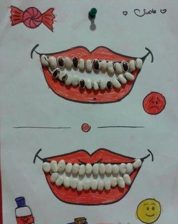 Teeth craft for kindergarten | funnycrafts