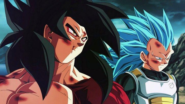 Goku Super Saiyan 4 Vegeta Super Saiyan Blue DBS Wallpaper - Visit now for 3D Dragon Ball Z compression shirts now on sale! #dragonball #dbz #dragonballsuper