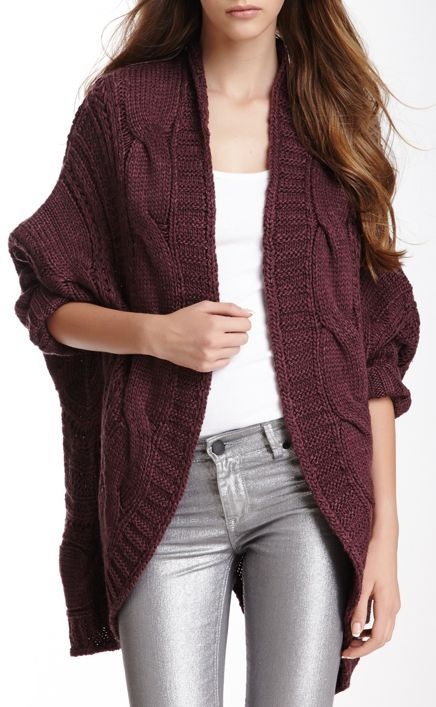 Burgundy Knit Cardigan <3