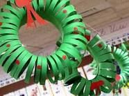 Construction paper Xmas wreath