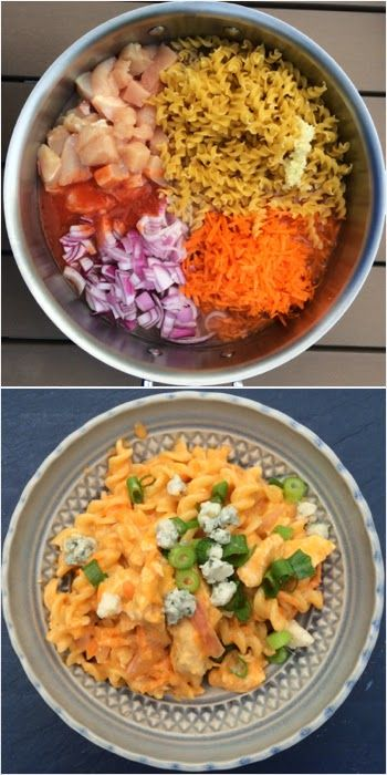 One Pot Pasta: Buffalo Chicken