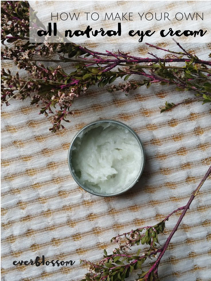 Making your own all natural eye cream is super simple + fun. PLUS you can customize it by using different essential oils!