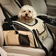 WOpet-Pet-Car-Seat-Carrier-Airline-Approved-For-Dog-Cat-Puppy-Small-Pets-Travel-Cage-L-Size-Weight-up-to-15lbs-Beige-0