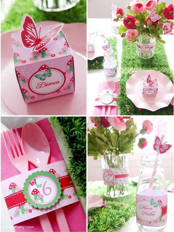 Pink pixie fairy birthday party ideas with lots of DIY decorations, party printables, sweet party food and favors!   #pixieparty #pixiebirthday #fairyparty #fairypartyideas #fairybirthdayparty