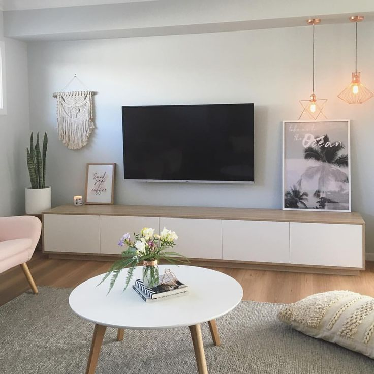 "Lounge room by Sapphire Living Interiors (@sapphire_living) on Instagram: ""TV unit arrived today!! Woohoo! With such a big space between the bulk head we opted for an XL tv…"""