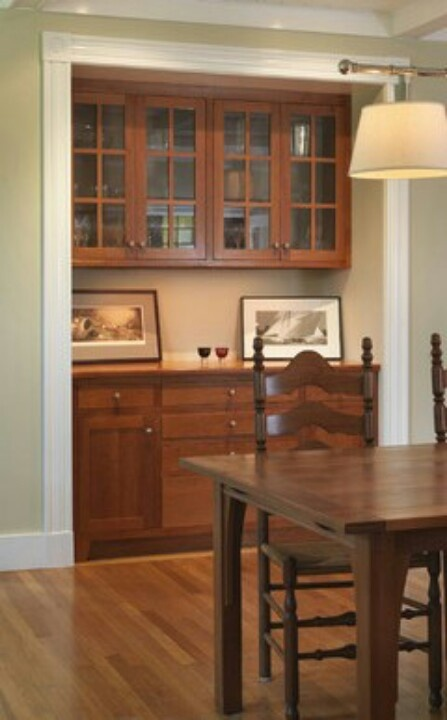 Dinning Room Bar Buffet Cabinet With A Matching Table Chair Set