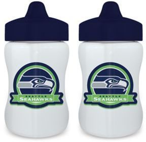 Baby Fanatic NFL Seattle Seahawks 9 oz. Sippy Cups in Blue/Green (Set of 2)