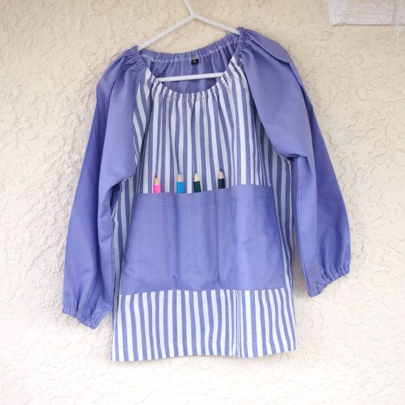 Art smock  M  5-7  Purple Me Up by UtopiaHandmade on Etsy
