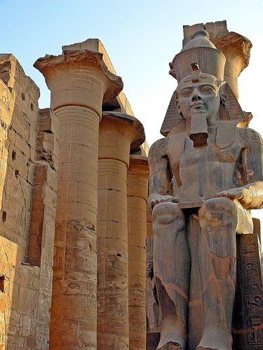 Statue of Amenhotep III, Luxor, Egypt