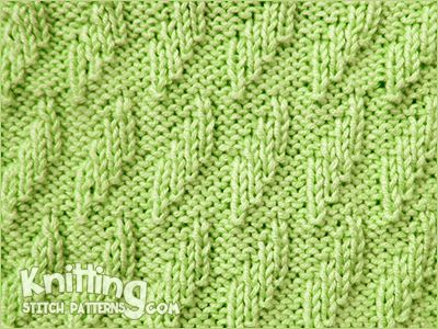 Rhombus Textured knitting stitch