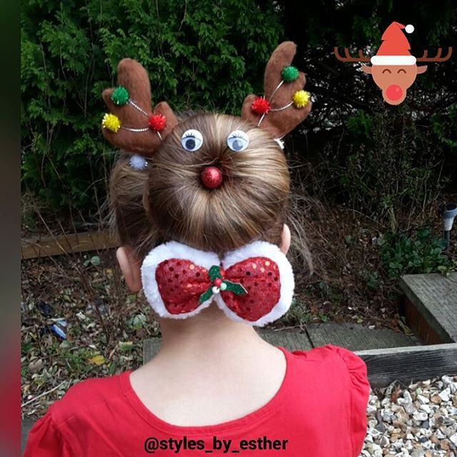 Pin for Later: You've Never Seen Wacky Hair Day Ideas as Crazy as These Rudolph
