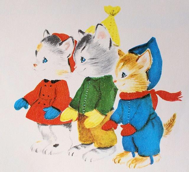 Tre små kattungar