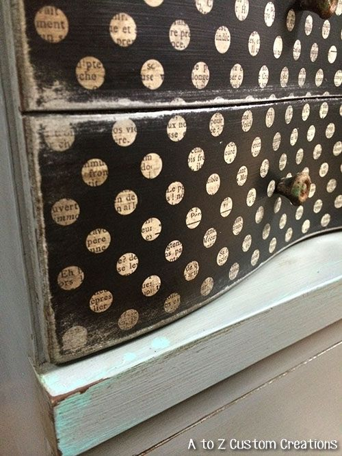 Mid Century Dresser Makeover by A to Z Custom Creations using Debi's Design Diary DIY Paint