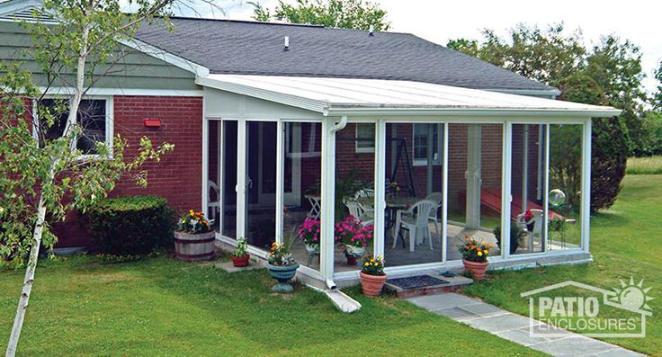 Easyroom Sunroom Kit In White With A Single Slope Roof And