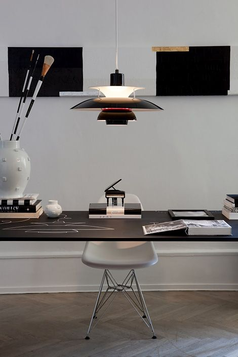 Louis Poulsen lamps presented in the beautiful home and studio of Tenka Gammelgaard.    Photographs by Jacob Termansen.