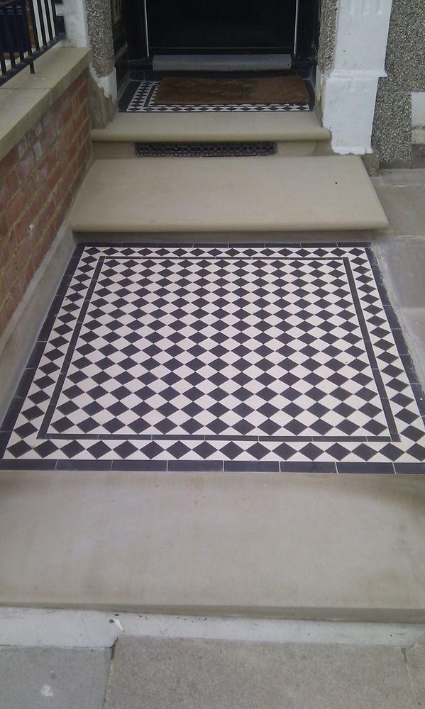 Slate Doorstep Tiles Amp Front Path And Steps In Black Slate