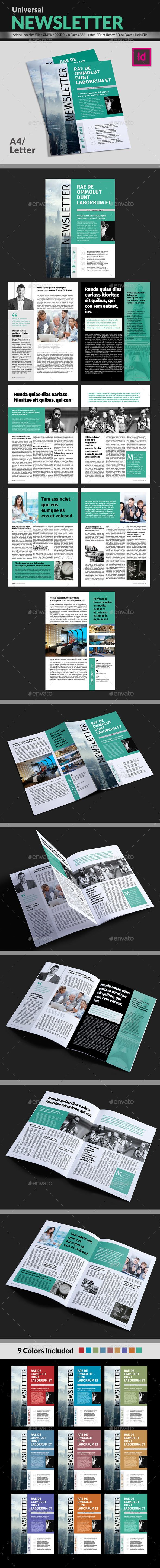 Universal Newsletter Template InDesign INDD