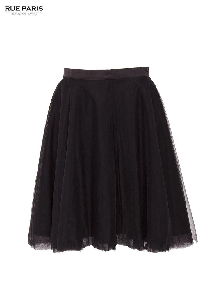 Spódnica czarny Spódnice PartyLook Rue Paris \ Spódnice i sukienki \ spódnice Butik 142455